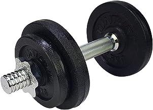 Tunturi Dumbbellset - Halterset - Totaal 10 kg - 1 stang - Zwart