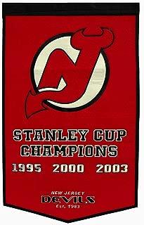 Winning Streak New Jersey Devils NHL Wool Felt Stanley Cup Dynasty 24x36 Banner