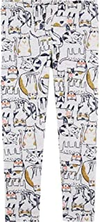 OshKosh B'Gosh Baby Girl's Pull-on Glitter Kitty Cat Leggings
