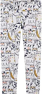 OshKosh B'Gosh Baby Girl's Pull-on Glitter Kitty Cat Leggings