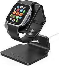 Apple Watch 充電スタンド 置くだけで充電 1 2 3 4 5 38mm 42mm 44mm 全機種対応 Lomicall アップルウォッチ 卓上スタンド : applewatch アルミ 充電 ドック 充電機 ライトニング スタンド デスク ドック 卓上 充電ケーブル 収納 ナイトスタンド クレードル アップルウォッチ シリーズ Apple Watch Series