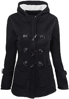 Mogogo Women's Merino Mid-Long Fall Winter Hooded Outwear Coat Tops Outwear