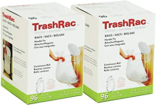 TrashRac Refill Bags for 3 Gallon Frame - 96 Count - 2 Pack (Total 192 Bags)