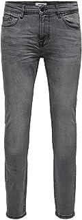 Only & Sons heren Skinny jeans Onswarp Grey Dcc 2051 Noos