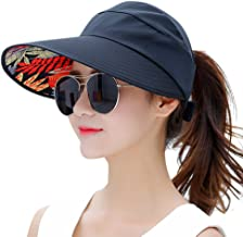 HINDAWI Sun Hats for Women Wide Brim UV Protection Summer Beach Packable Visor