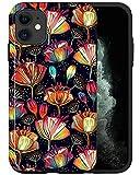 JUSPHY - Funda para teléfono compatible con iPhone 12 Mini, diseño de flores de dibujos animados mágicos LPB031