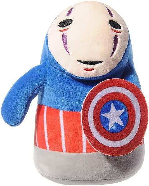 Plush Stuffed Toy Anime Spirited Away No Face Stuffed Plush Dolls Cosplay Captain America Throw Pillow Doll Stuffed Animals Toys