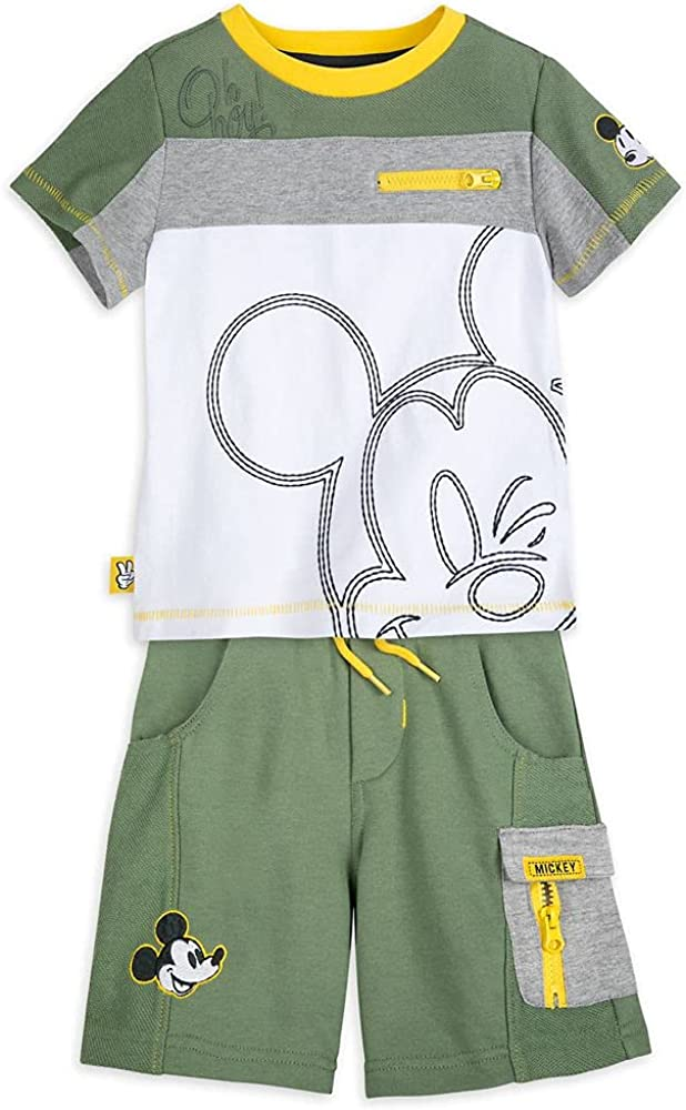 Disney Mickey Mouse T-Shirt and Shorts Set for Boys