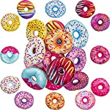 Plush Donuts with Sprinkles & Icing, Stuffed Donut Pillow Toy Party Favors Decorations - 4' Plush Donuts Toys (12 Pieces)