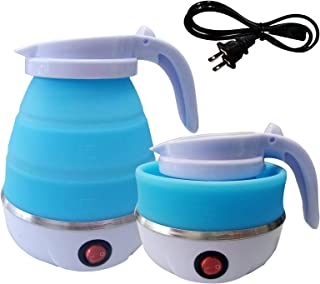 Foldable Portable Electric Kettle with Food Grade Silicone, 9 Mins Fast Water Boiling Tea Pot Coffee Pot for Camping or Tr...