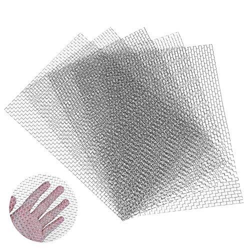 Rete metallica tessuta a 5 maglie, 5 pezzi A4 (30X21 cm) Rete metallica in acciaio inossidabile 304 per fai da te, sfiato, filtro, sicurezza, finestre e giardino, ecc.(5Mesh-A4)