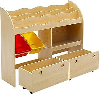 Keezi Kids Bookcase Children Bookshelf Toy Storage Box Organizer Display Rack