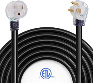 40Ft Welder Extension Cord, BougeRV Heavy Duty Industrial Welding Cord Nema 6-50 40 Amps with Lighted End, ETL Approved for Hobart, Lincoln, Miller Welder