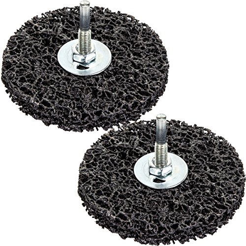2x Rust/Paint 100mm Remover Disc Wheels - Grinder/Drill Abrasive Stripping Bits