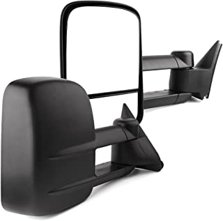 YITAMOTOR Towing Mirrors Compatible for Chevy GMC, Power Manual Telescoping Folding, for 1988-1998 Chevy GMC C/K 1500 2500 3500, 1992-1999 Suburban 1500 2500 2000 Chevy Tahoe GMC Yukon V8 5.7L