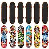 12 Finger Skate en 12 Motifs Différents - Mini Fingerboard, Miniature - Skateboard de Doigt, Petite Planche à Roulette – Fête d'Anniversaire d'Enfant, Cadeau, Jouet, Remplissage Piñata, Bas de Noël
