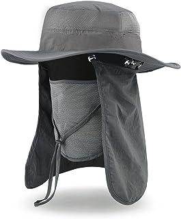 VBIGER アウトドア 農作業用 帽子 UVカット フェイスカバー付き ガーデニング 釣り 登山 首までガード 紫外線 熱中症対策