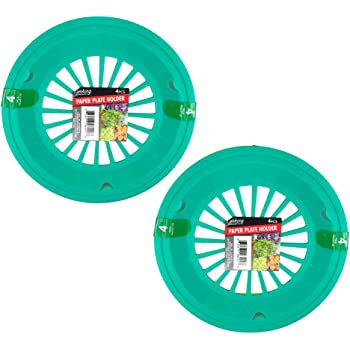 Bright Colored Plastic Paper Plate Holders for 9 Inch Paper Plates, 8 Piece Set (Ocean)