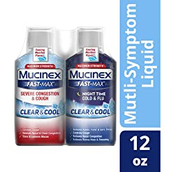 Congestion, Cough, Cold and Flu, Mucinex Fast-Max Clear & Cool Day/Night  Severe Congestion, Cough,