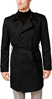 Ralph Lauren Men's LOWRR2JT0002 Double Breasted 3/4 Length Belted Trench Raincoat- Black - 48R