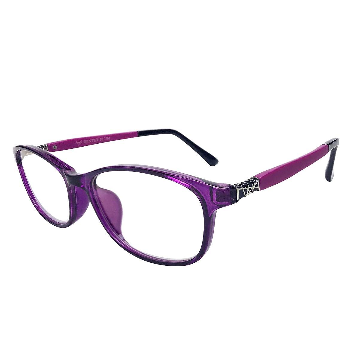 WINTER PLUM Reading Glasse,Blue Light Blocking Computer Glasses,Anti UV Glare Harmful for Men and Women(1612/Purple)
