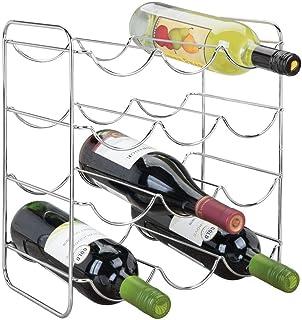 mDesign Range Bouteille en métal pour Boissons – Porte Bouteille vin pour Jusqu'à 12 Bouteilles d'Eau ou vin – casier Bout...