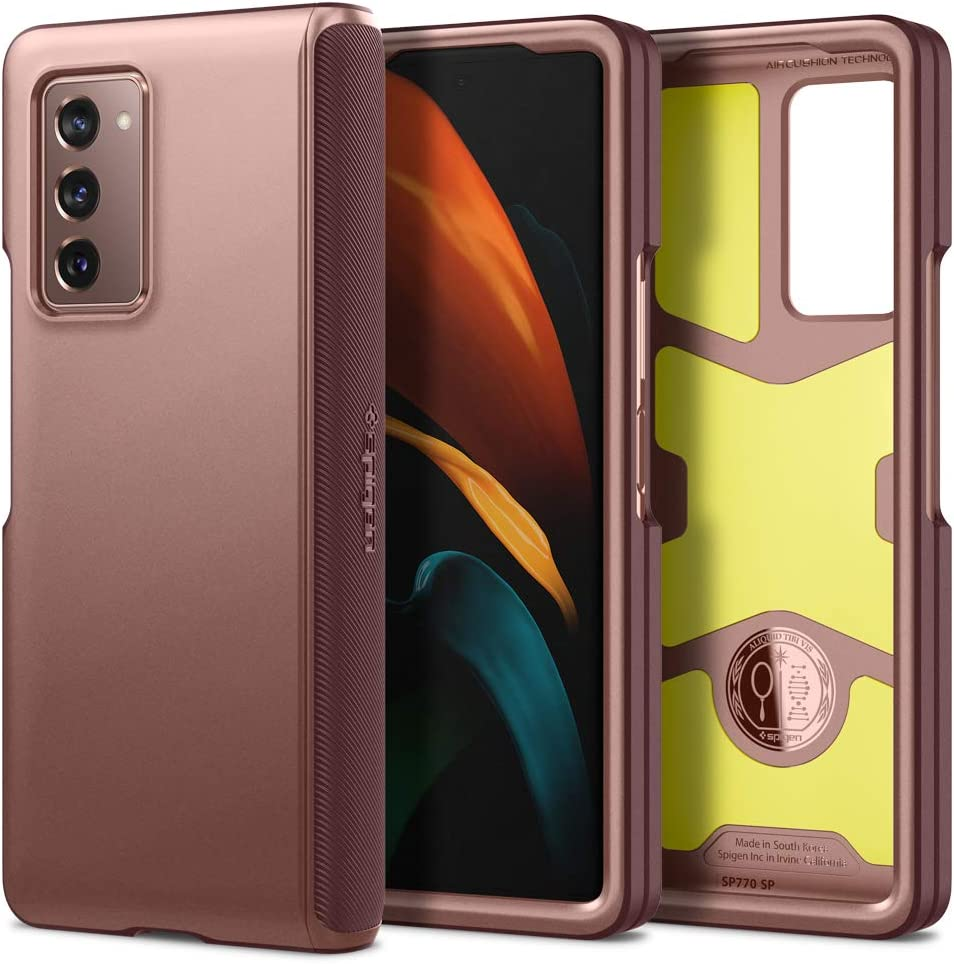 Spigen Slim Armor Pro Designed for Samsung Galaxy Z Fold 2 Case (2020) - Bronze