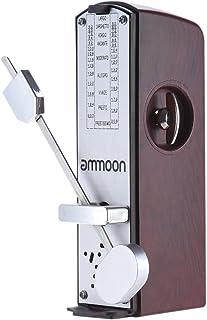 Ammoon® Mini Portátil Metrónomo Mecánico Metrónomo Universal 11cm de Altura para Piano Guitarra Violín Ukulele Cítara China Música Instrumento
