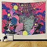Flor de mariposa tapiz colgante de pared hogar planta de insectos impresión sofá fondo decoración de tela manta de pintura de cabecera A5 150X200CM