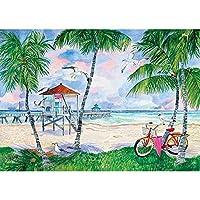ダイヤモンド絵画クロスステッチ風景5Dダイヤモンド海辺の写真ラインストーンフルドリル刺繡絵画家の装飾,30*40Cm(12*16Inch)