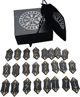 comprar comparacion presentimer Juego de Tarjetas Rune Stones - Runa de Grabado en Madera nórdica Hecha a Mano con Bolsa de Almacenamiento
