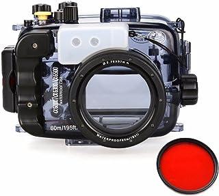 Sea frogs 60m / 195ft 水中カメラハウジングケースは for Sony A6000 A6300 A6500 16-50 ミリメートル レンズで使用できます【並行輸入品】