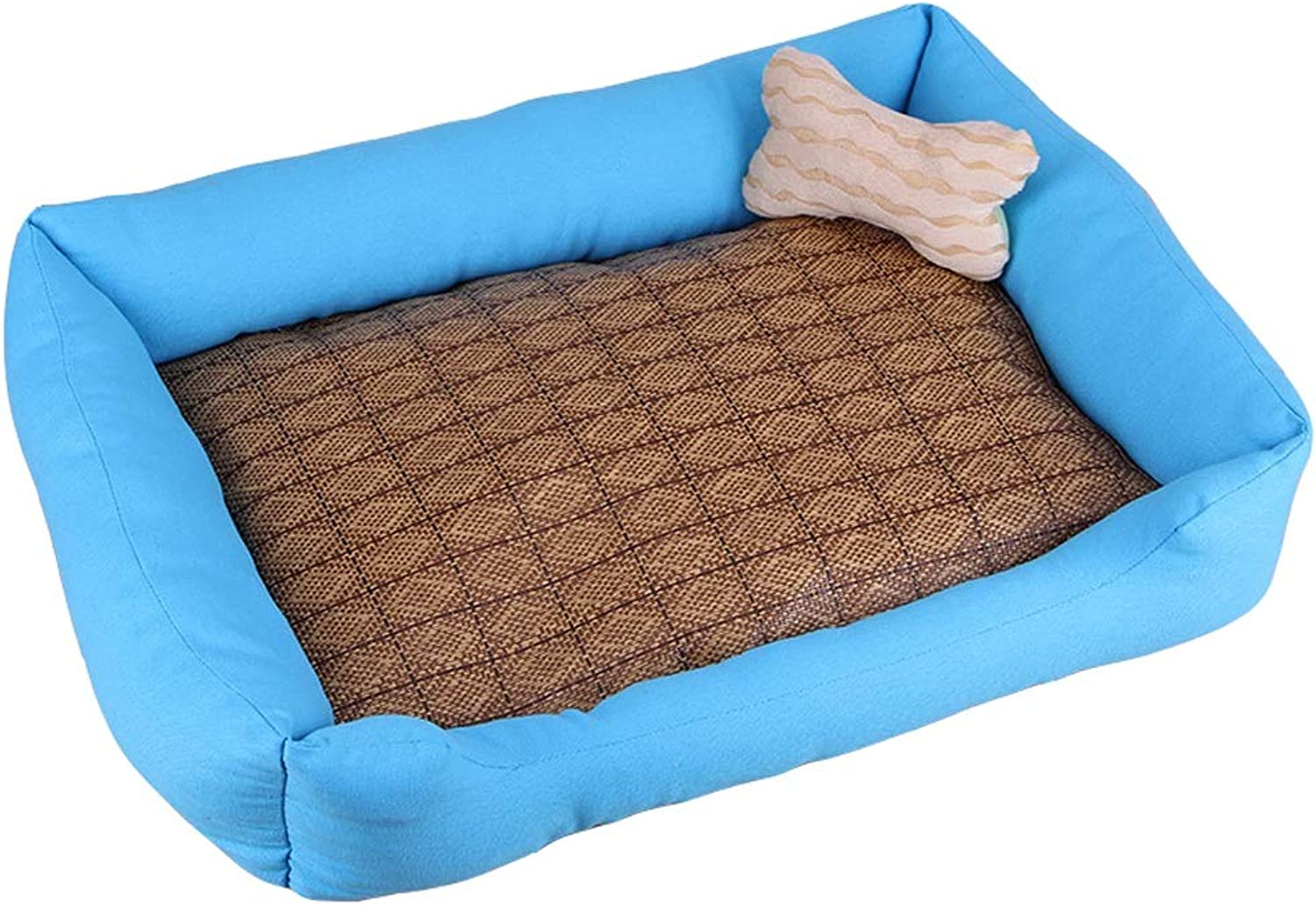 Pet house Kennel Kennel Cat Litter Cushion Suitable For Small Dogs Large Dog Pets Washable (color   A, Size   M)