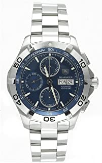 Men's CAF2012.BA0815 Aquaracer Automatic Chronograph Stainless Steel Watch