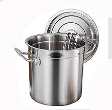 Voorraad Pot/Soep Emmer, 304 RVS Commerciële Soep Pot/Opslag Emmer/Kookpot, met deksel, voor Gasfornuis/Inductie Fornuis (...