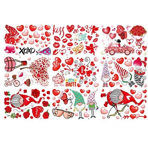 Boda Del Día De San Valentín Pegatinas Wall Decal Amor Del Corazón Se Aferra Ventana Decoración Estáticos De La Fiesta De Aniversario De Boda Decoración