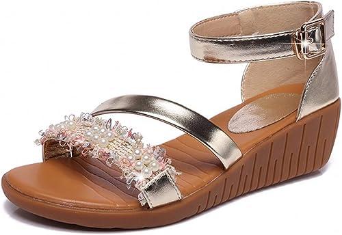 KOKQSX-Le Cuir,la Pente des Talons,Sandales,de Confort,de Vieilles Chaussures,des Chaussures,des Sandales.  commander maintenant les prix les plus bas