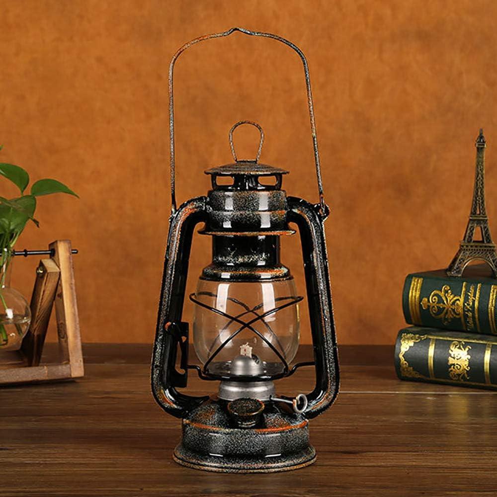 l/ámpara de queroseno camping citronela l/ámpara de aceite POFET Farol vintage para tormenta l/ámparas cl/ásicas amarillo l/ámparas de mesa para el hogar jard/ín