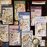 BLOUR 45 unids/Set Serie Temporal de imágenes Pegatinas de Papel VintageSuministros de álbum de Recortes DIY Pegatinas de papelería de Viaje