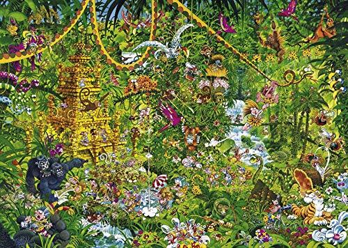 EXking Jungle Tiger Tree Puzzle für Kinder Erwachsene, große pädagogische intellektuelle Gemälde Puzzle Spiel Spielzeug Geschenk für Spiel Home Wanddekoration