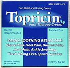 Topricin Foot Pain Relief Therapy Cream (4 oz) Fast Acting Pain Relieving Rub