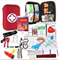 Emergency Survival Kit-First Aid Kit. Outdoor Survival Gear and Tools for Camping, Backpacking, Hiking, Hunting, Car or Adventure Travel. Includes Multi-tool/Waterproof Match Case/Poncho/Compass