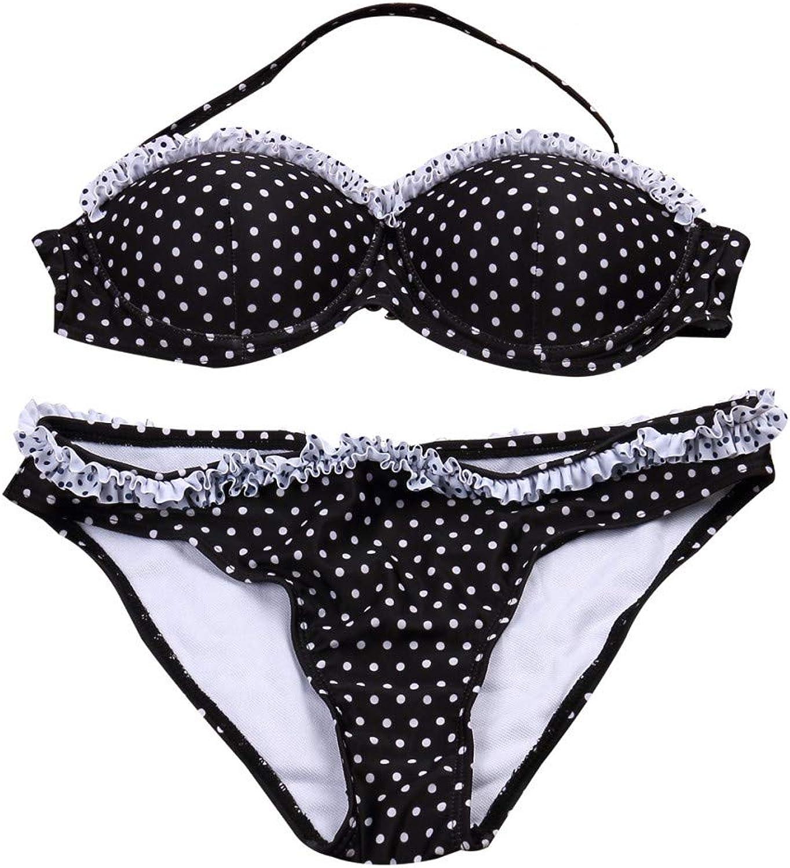 LMSHM Damen Bademode Polka Dot Kurze Frauen Bikini Set Set Set Cute Girl Bademode Push-Up Gepolsterter BH Badeanzug Beachwear B07QKYH85W  Viele Sorten a8e947