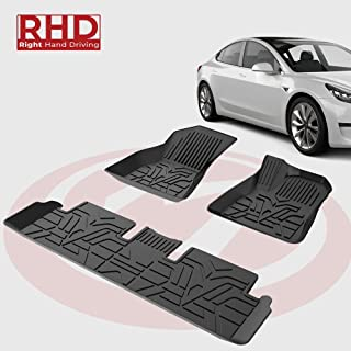 for Audi A4 2017-2019 Car Floor Mats Full Coverage All Weather Protection Waterproof Non-Slip Leather Liner Set Red