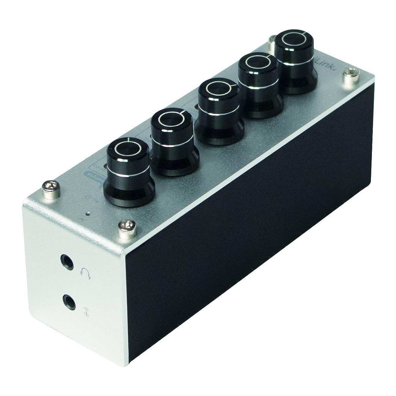 カナダ果てしないかび臭いLogiLink UA0273コンパクトUNTポータブルトライトーンEQコントロールとヘッドフォンアンプシルバー