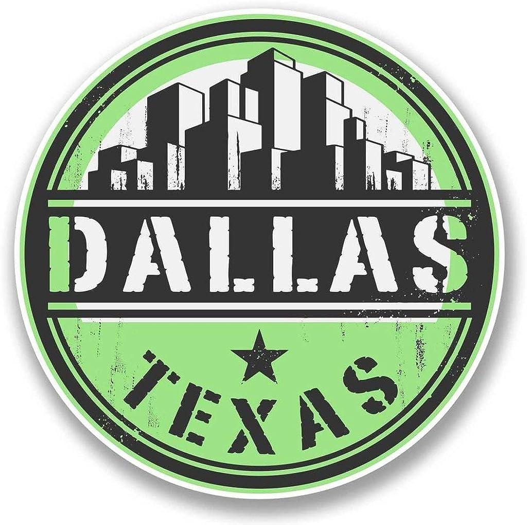 Dallas Texas USA Round Metal 0.75