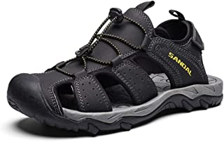 Xujw-shoes, for Men Outdoor Sandals Sport Shoes Mens Summer Beach Climbing Hiking Synthetic Leather Perforated Strong Anti Slip Anti-Collision Cozy Breathable