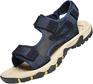 Men Open Toe Flats Sandals, Male Solid Summer Outdoor Casual Sports Shoes Beach Shoes