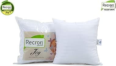 Recron Certified Joy Fibre Cushion - 41 cm x 41 cm, White