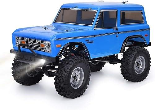 punto de venta de la marca Kaiaki RC Trucks 4x4 RC Crawlers Crawlers Crawlers 1 10 4wd Off Road Rock Crawler RC Car con Luces Eléctrico Impermeable Rock Cruiser RC-4 136100V2 Hobby Toy para Niños,azul  suministro de productos de calidad